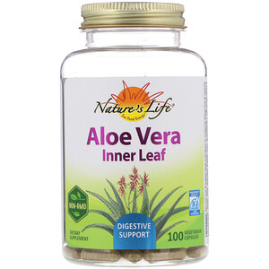 Натурес Хербс, Aloe Vera, Inner Leaf, 100 Vegetarian Capsules отзывы покупателей