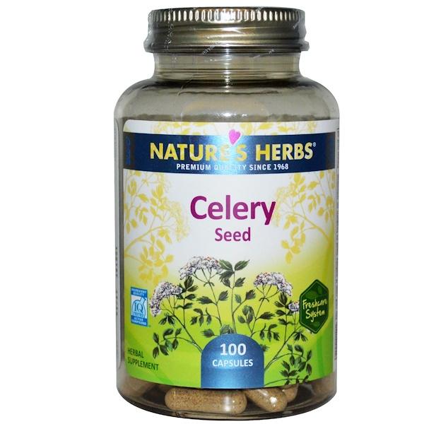 Nature's Herbs, 芹菜籽膠囊,100粒