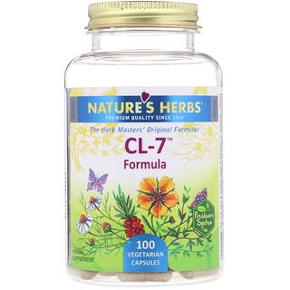 Nature's Herbs, CL-7 Formula, 100 Vegetarian Capsules