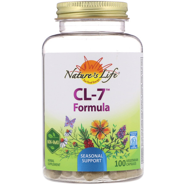 Nature's Herbs, CL-7 Формула, 100 вегетарианских капсул (Discontinued Item)