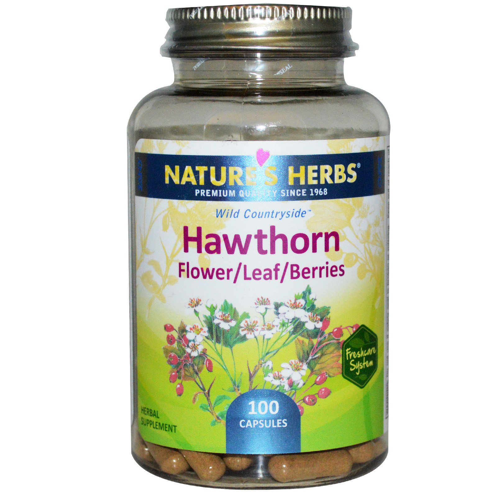 Nature's Herbs, Боярышник, Цветок/Лист/Ягоды, 100 капсул