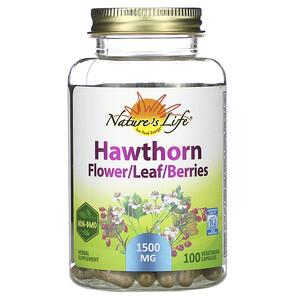 Натурес Хербс, Hawthorn, Flower/Leaf/Berries, 1,500 mg, 100 Vegetarian Capsules отзывы покупателей