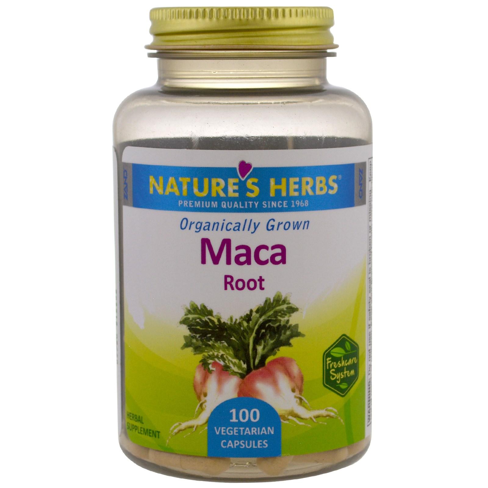 Nature's Herbs, Organic Maca Root, 100 Vegetarian Capsules