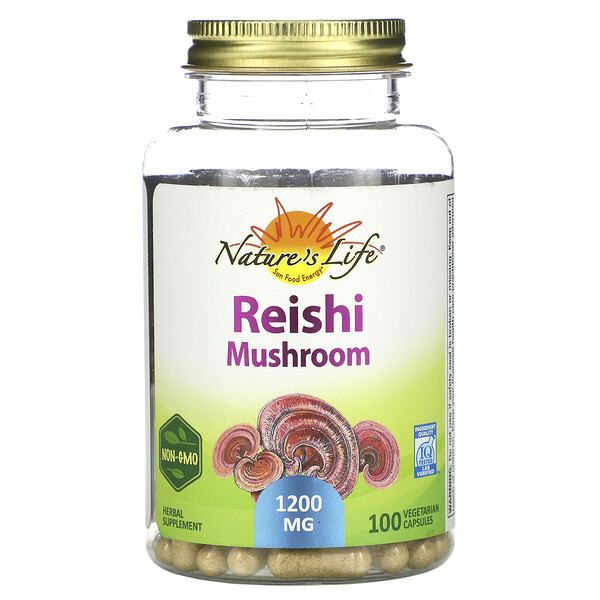 Nature's Herbs, Reishi Mushroom, 1,200 mg, 100 Vegetarian Capsules