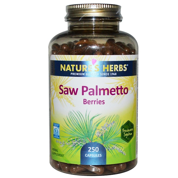 Nature's Herbs, Saw Palmetto Berries, 250 Capsules