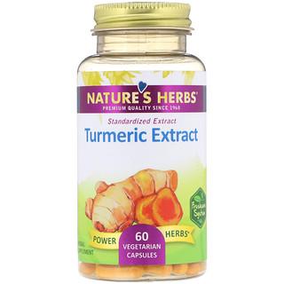 Nature's Herbs, Extrait de curcuma, 60 capsules végétales