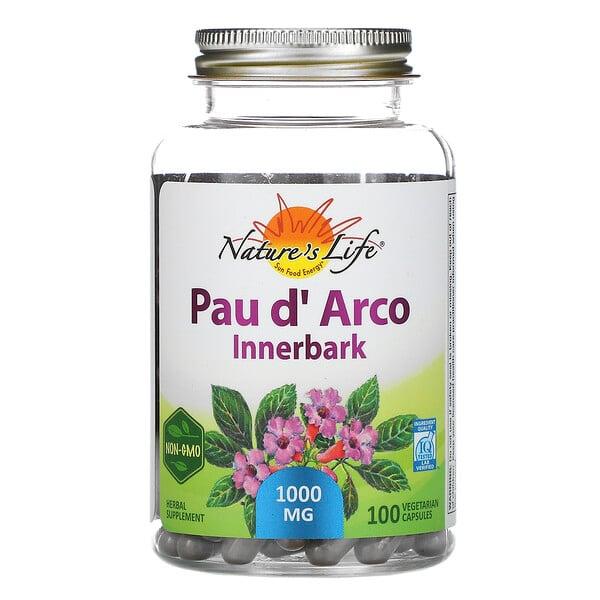 Nature's Herbs, Pau d' Arco, corteza interna, 100 cápsulas