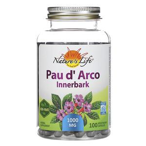 Натурес Хербс, Pau d' Arco, Innerbark, 100 Capsules отзывы покупателей
