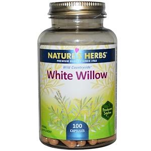 Натурес Хербс, White Willow, 100 Capsules отзывы