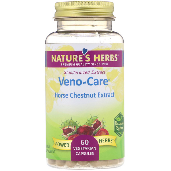 Nature's Herbs, Veno-Care, Horse Chestnut Extract, 60 Vegetarian Capsules