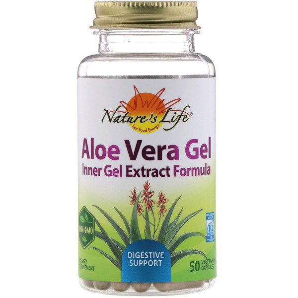Nature's Life, Aloe Vera Gel, 50 Vegetarian Capsules (Discontinued Item)