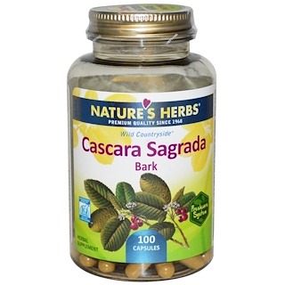 Nature's Herbs, Каскара Саграда - кора, 100 капсул