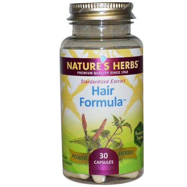 Nature's Herbs, Формула для волос, 30 капсул (Discontinued Item)