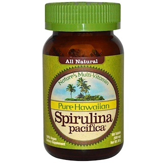 Nutrex Hawaii, Pura Spirulina Pacifica do Havaí, Polivitamínico Nature, 500 mg, 100 tabletes