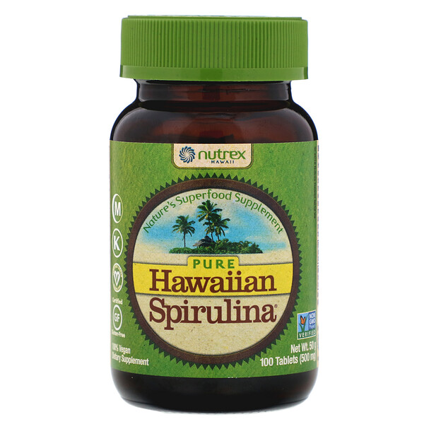 Pure Hawaiian Spirulina, 100 Tablets