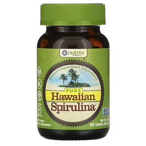 Нутрекс Хауайи, Pure Hawaiian Spirulina, 100 Tablets отзывы покупателей