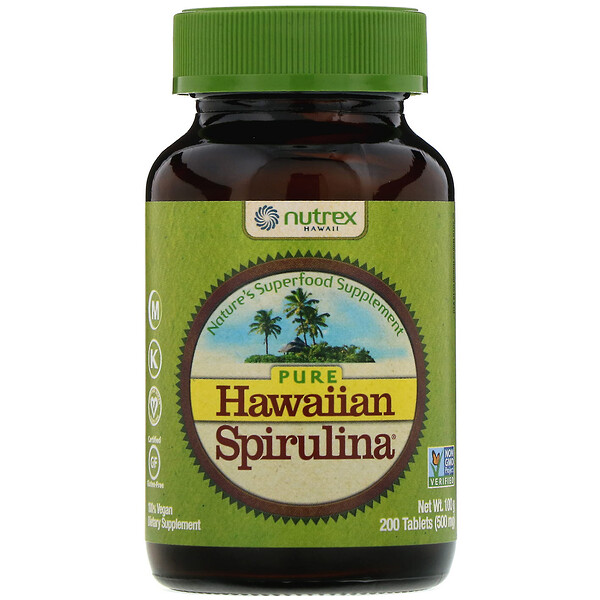 Nutrex Hawaii, Pure Hawaiian Spirulina, 500 mg, 200 Comprimidos