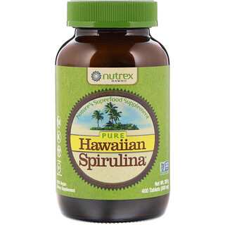 Nutrex Hawaii, Pure Hawaiian Spirulina, 500 mg, 400 Tablets