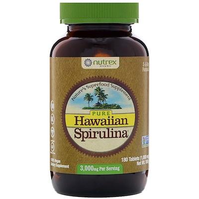 Чистая гавайская спирулина, 3 000 мг, 180 таблеток  - купить со скидкой