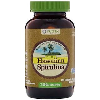 Nutrex Hawaii, Spirulina hawaiana pura, 3000 mg, 180 comprimidos