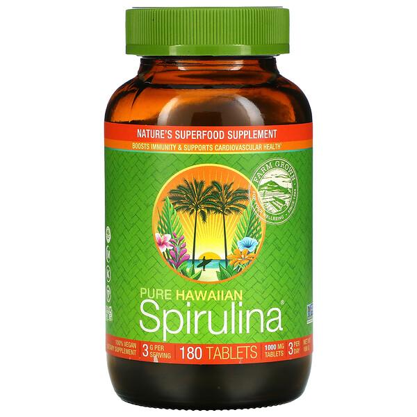 Nutrex Hawaii, Pure Hawaiian Spirulina, 1,000 mg, 180 Tablets