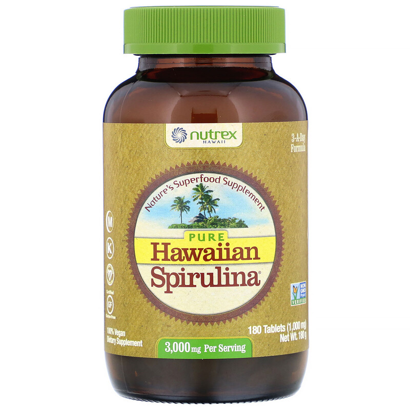Pure Hawaiian Spirulina, 3,000 mg, 180 Tablets