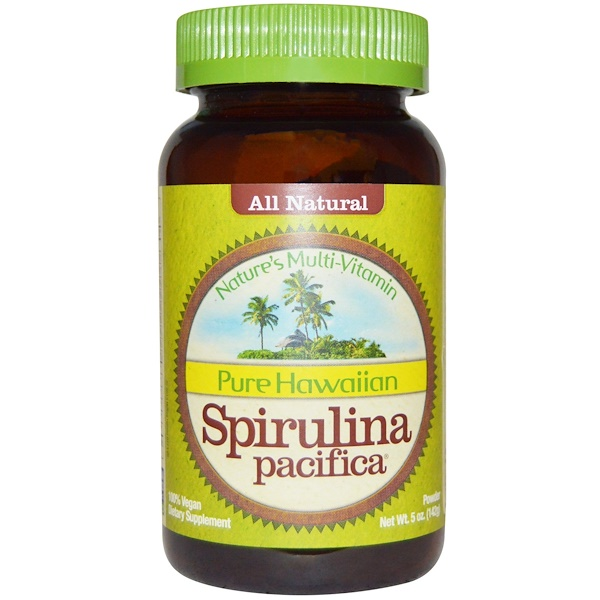 Nutrex Hawaii, Spiruline hawaïenne pure Pacifica, multi-vitamines de la nature, en poudre, 5 oz (142 g)