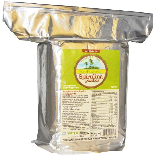 Nutrex Hawaii, Pure Hawaiian Spirulina Pacifica, Nature's Multi-Vitamin, Powder, 5 lbs (2.27 kg) (Discontinued Item)