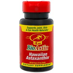 Nutrex Hawaii, BioAstin,夏威夷蝦青素,4 毫克,60 粒軟膠囊