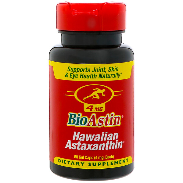 BioAstin, Hawaiian Astaxanthin, 4 mg, 60 Gel Caps