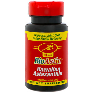 Нутрекс Хауайи, BioAstin, Hawaiian Astaxanthin, 4 mg, 60 Gel Caps отзывы покупателей