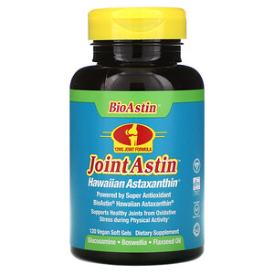 Нутрекс Хауайи, JointAstin, Hawaiian Astaxanthin, 120 Vegan Soft Gels отзывы покупателей
