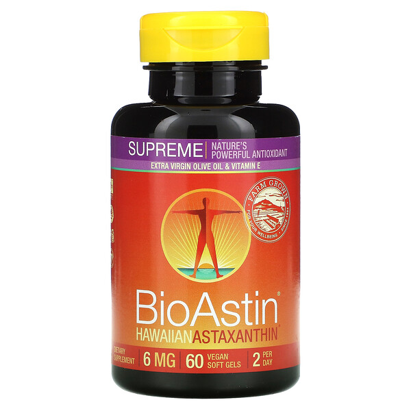 BioAstin Supreme, 6 mg, 60 Vegan Soft Gels