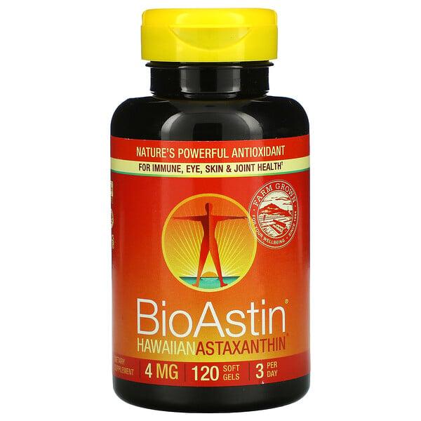バイオアスティン, ハワイアン・アスタキサンチン, 4 mg, 120 ジェルカプセル
