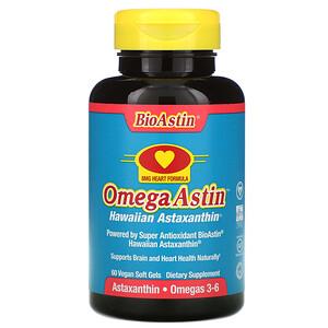 Нутрекс Хауайи, OmegaAstin, Hawaiian Astaxanthin, 60 Vegan Soft Gels отзывы