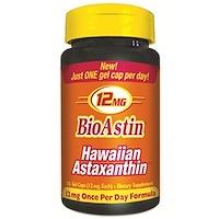 Nutrex Hawaii, 바이오아스틴, 12 mg, 25 젤 캡슐
