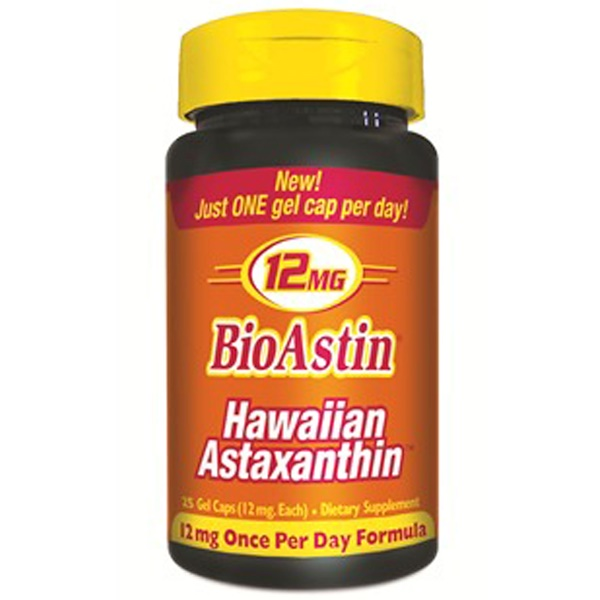 Nutrex Hawaii, BioAstin, 12 mg, 25 geles
