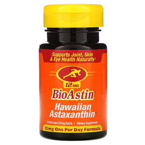 Нутрекс Хауайи, BioAstin, Hawaiian Astaxanthin, 12 mg, 25 Gel Caps отзывы покупателей