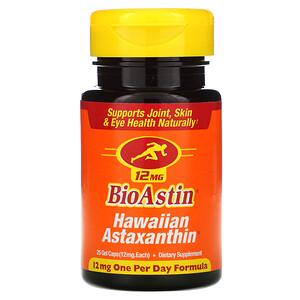Нутрекс Хауайи, BioAstin, Hawaiian Astaxanthin, 12 mg, 25 Gel Caps отзывы