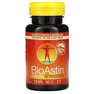 Nutrex Hawaii BioAstin, гавайский астаксантин, 12мг, 50мягких таблеток