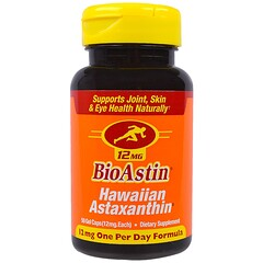 Nutrex Hawaii, BioAstin, 12 mg, 50 Gel Caps