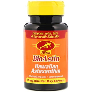 Nutrex Hawaii, BioAstin, Hawaiian Astaxanthin, 12 mg, 75 Gel Caps