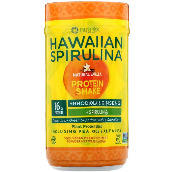 Espirulina Hawaiana, batido de proteína, vainilla natural, 364g (12,8oz)