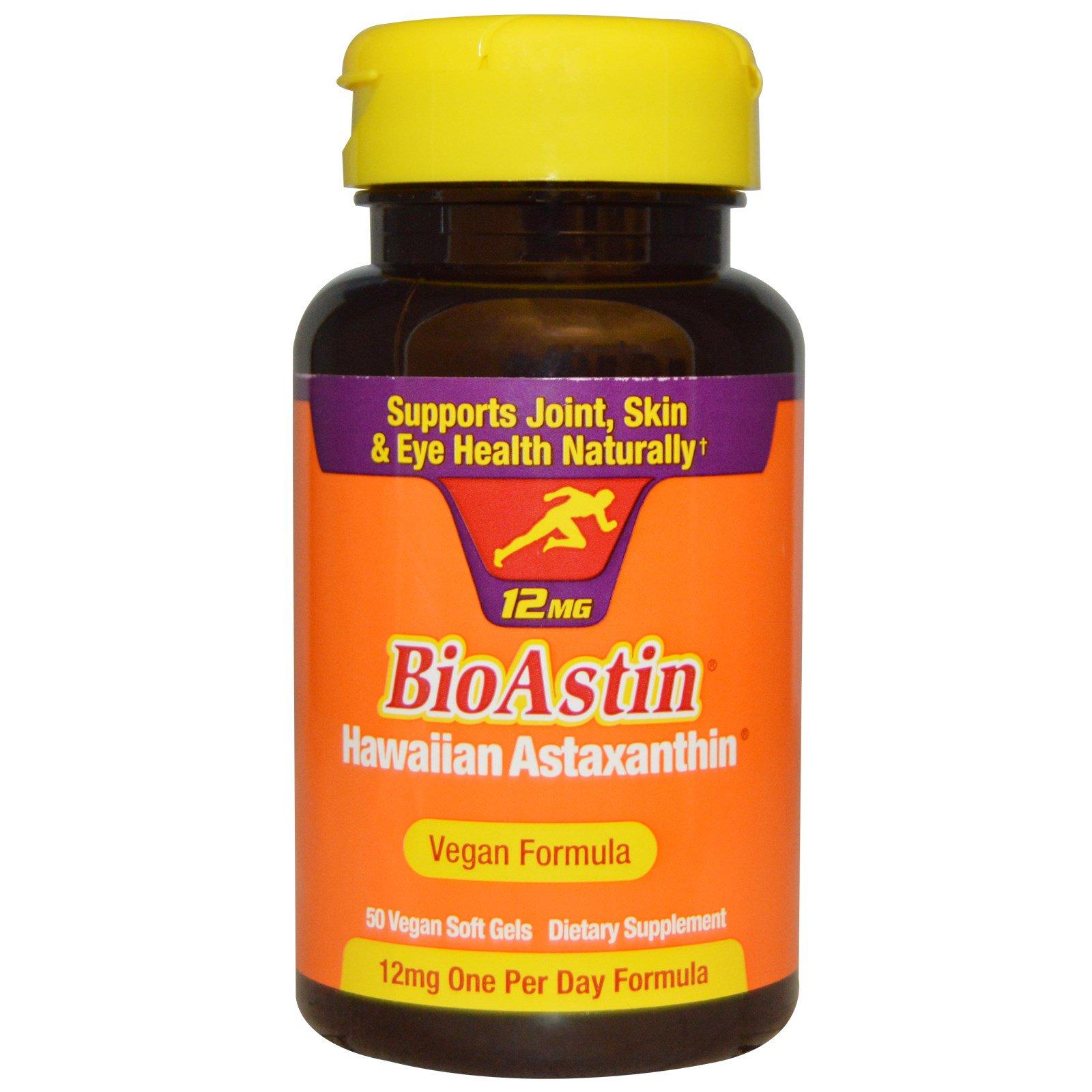 Nutrex Hawaii, BioAstin, 12 мг, 50 веганских мягких желатиновых капсул
