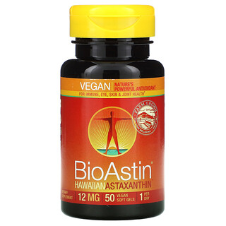 Nutrex Hawaii, BioAstin, 12 mg, 50 Gélules souples végétaliennes