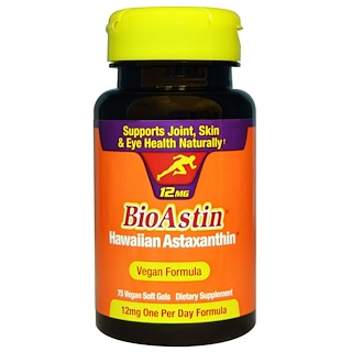 Nutrex Hawaii, BioAstin, 12 mg, 75 Vegan Soft Gels