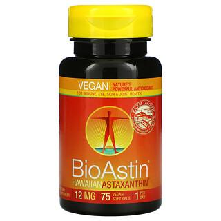 Nutrex Hawaii, BioAstin, 12 mg, 75 Vegan Soft Gels
