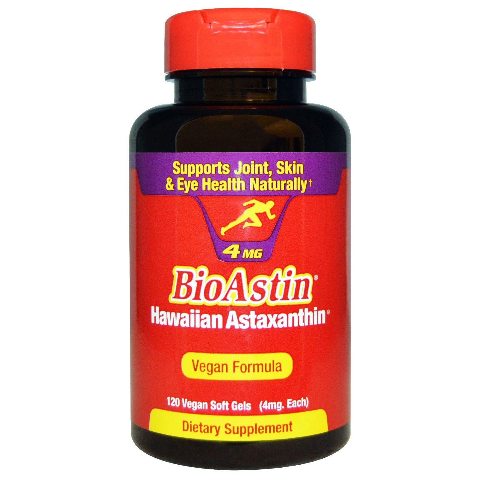 Nutrex Hawaii, BioAstin, 4 мг, 120 мягких капсул в растительной оболочке