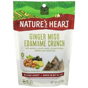 Nature's Heart, 姜汁味噌毛豆脆,4 盎司(113 克)