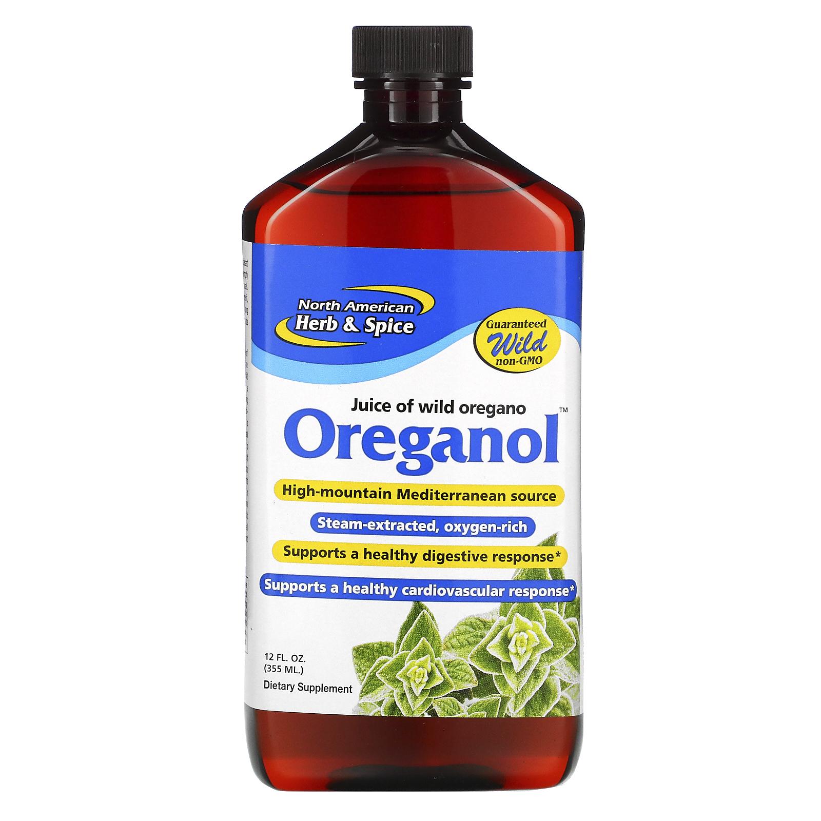 North American Herb Spice Oreganol Wild Mediterranean P73 12 Fl Oz 355 Ml Iherb